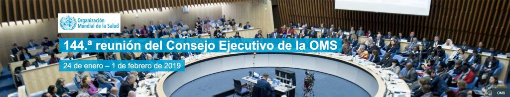 Reunión del consejo ejecutivo de la OMS